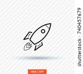 rocket line vector icon    Shutterstock .eps vector #740457679