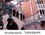 st. antoine catholic church in... | Shutterstock . vector #740458699