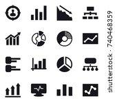 16 vector icon set   target... | Shutterstock .eps vector #740468359