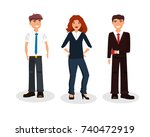 business people group human... | Shutterstock .eps vector #740472919