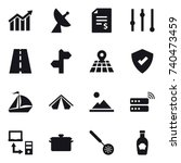 16 vector icon set   diagram ... | Shutterstock .eps vector #740473459