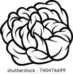 flower rose  black and white.... | Shutterstock .eps vector #740476699