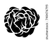 flower rose  black and white.... | Shutterstock .eps vector #740476795