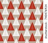 seamless pattern with geometric ... | Shutterstock .eps vector #740476924