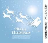 merry christmas art. vector and ... | Shutterstock .eps vector #740478439