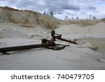 sand extraction  sand quarry ... | Shutterstock . vector #740479705
