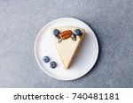 vegan  raw carrot cake. healthy ... | Shutterstock . vector #740481181