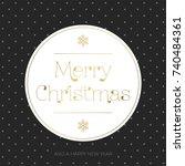 merry christmas vintage... | Shutterstock .eps vector #740484361