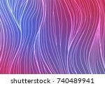 light blue  red vector natural... | Shutterstock .eps vector #740489941