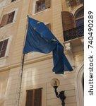Small photo of flag of the European Union (EU) aka Europe