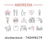 anorexia. symptoms  treatment.... | Shutterstock . vector #740498179
