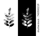 realistic highly detailed leaf... | Shutterstock .eps vector #740500219
