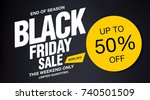 black friday sale banner layout ... | Shutterstock .eps vector #740501509