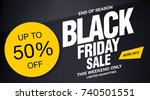 black friday sale banner layout ... | Shutterstock .eps vector #740501551