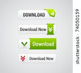 set of download buttons with... | Shutterstock .eps vector #74050159