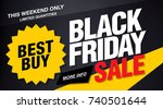 black friday sale banner layout ... | Shutterstock .eps vector #740501644