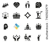 vector set of icons related to... | Shutterstock .eps vector #740502979