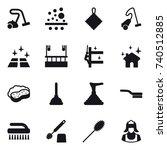 16 vector icon set   vacuum...   Shutterstock .eps vector #740512885
