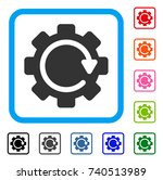 gear rotation direction icon....