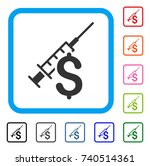 narcotic business icon. flat... | Shutterstock .eps vector #740514361