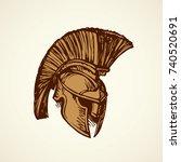 historic past golden leonidas... | Shutterstock .eps vector #740520691
