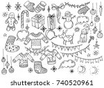holiday collection. set of... | Shutterstock .eps vector #740520961