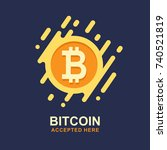 bitcoin concept. cryptocurrency ... | Shutterstock .eps vector #740521819