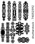 vector collection of celtic... | Shutterstock .eps vector #74052592