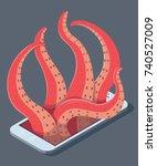 predators concept design.... | Shutterstock .eps vector #740527009