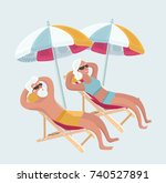 vector cartoon funny... | Shutterstock .eps vector #740527891