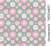 vector seamless pattern with... | Shutterstock .eps vector #740534857