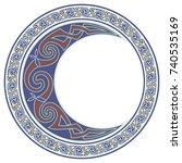 round celtic design. mandala ... | Shutterstock .eps vector #740535169