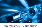 medication drug needle syringe... | Shutterstock . vector #740543191