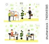 vector illustration of website... | Shutterstock .eps vector #740545585