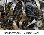 scrap metal. a heap of rusty... | Shutterstock . vector #740548621