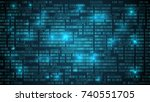 abstract futuristic cyberspace... | Shutterstock .eps vector #740551705