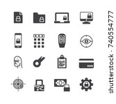 business data protection... | Shutterstock .eps vector #740554777