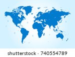 world map   Shutterstock .eps vector #740554789