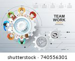 idea concept for business... | Shutterstock .eps vector #740556301