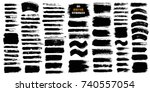 brush strokes text boxes.... | Shutterstock .eps vector #740557054