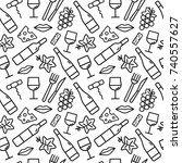 seamless pattern with wine and... | Shutterstock .eps vector #740557627