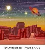 space vector landscape. planet  ...
