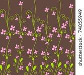 vector cute spring flowers... | Shutterstock .eps vector #74055949