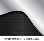 abstract metallic background . | Shutterstock . vector #740560309