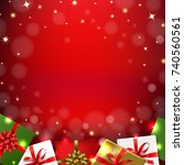 christmas banner with gradient... | Shutterstock .eps vector #740560561