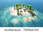 view on the island and sandy... | Shutterstock . vector #740566765