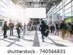 blurred business people at... | Shutterstock . vector #740566831