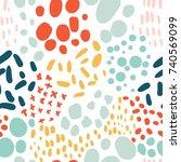 confetti seamless pattern....   Shutterstock .eps vector #740569099