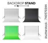 photo studio hromakey set... | Shutterstock .eps vector #740570344