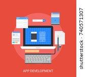 app development | Shutterstock .eps vector #740571307